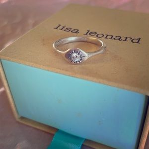 Lisa Leonard Sunburst ring, sterling silver